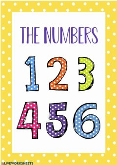 Ficha interactiva Divisor 5. The numbers