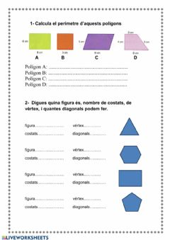 Interactive worksheet Geometría