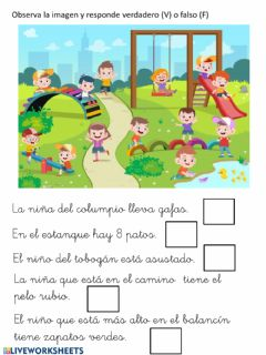 Interactive worksheet Comprensión de frases