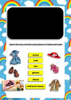 Interactive worksheet Clothes (Story)