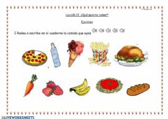 Interactive worksheet Leccion 12 Ejercicios