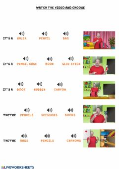 Ficha interactiva Watch the video and choose