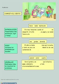 Interactive worksheet Completa el cuento 1