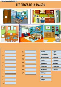 Interactive worksheet La maison