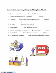 Interactive worksheet Complete with the correct form of the verb