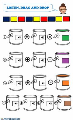 Interactive worksheet Mixing colours