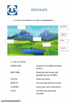 Interactive worksheet Paisaje de Interior