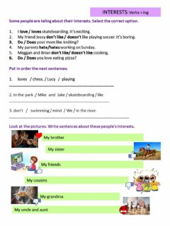 Interactive worksheet Verbs of preference