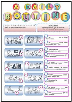 Interactive worksheet Daily routine- Third person