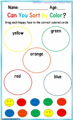 Interactive worksheet Classification by Color