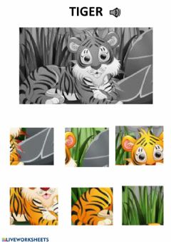 Interactive worksheet Tiger puzzle