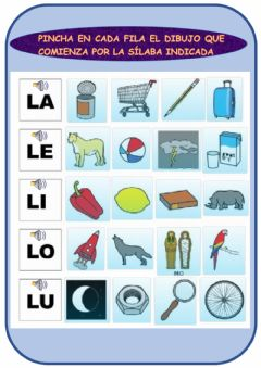 Interactive worksheet Fonema -L-