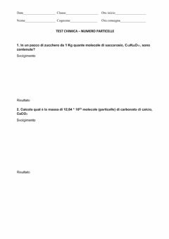 Interactive worksheet Numero di particelle