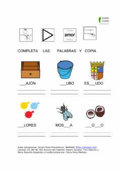 Interactive worksheet Completa y copia