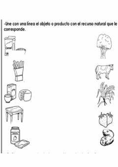 Interactive worksheet Los productos elaborados
