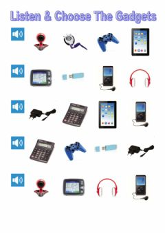 Ficha interactiva Listen and Choose the gadgets
