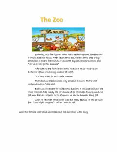 Interactive worksheet Short story