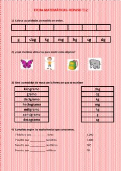 Interactive worksheet Masa