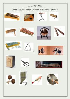 Interactive worksheet Name the instruments