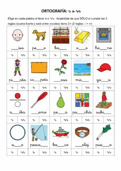 Interactive worksheet Ortografía r o rr