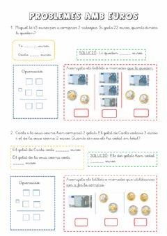 Interactive worksheet Problemes amb euro