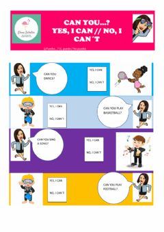 Interactive worksheet Can - cant