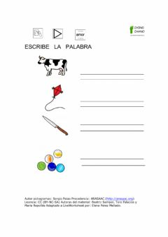 Interactive worksheet Escribe la palabra