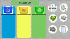 Interactive worksheet Recycle Bin