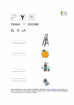 Interactive worksheet El o la