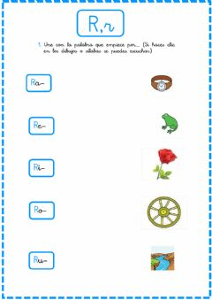 Interactive worksheet Letra R