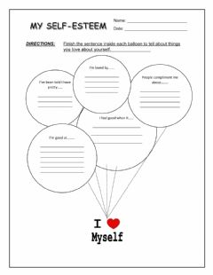 Interactive worksheet My self-esteem
