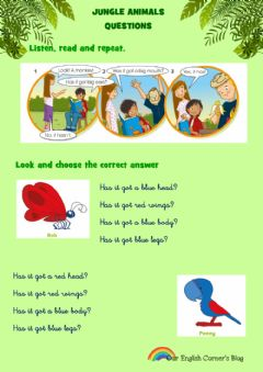 Interactive worksheet Jungle animal questions