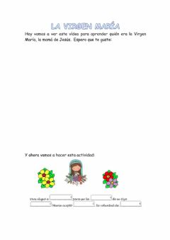 Interactive worksheet La Virgen María