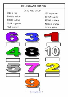 Ficha interactiva Colour and Numbers in English