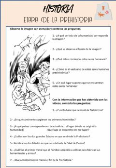 Interactive worksheet Prehistoria