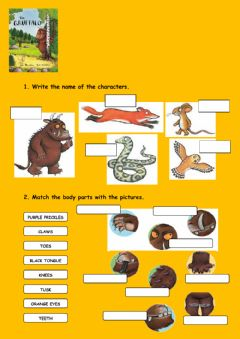 Ficha interactiva The Gruffalo