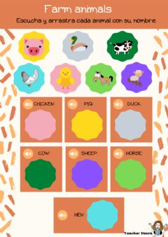 Interactive worksheet Farm animals