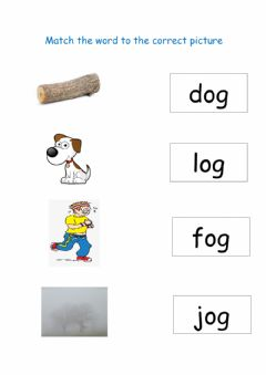 Interactive worksheet Match the picture to the word og family