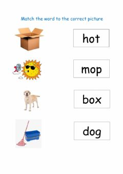 Interactive worksheet Match the picture to the world middle sound o