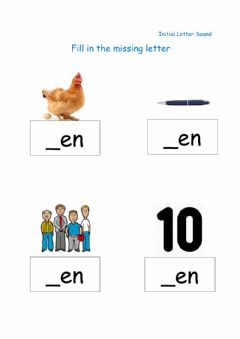 Interactive worksheet Fill in the missing Initial Letter - en family