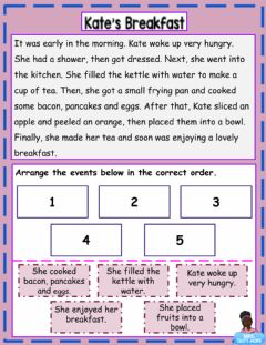 Ficha interactiva Story Sequencing Activity