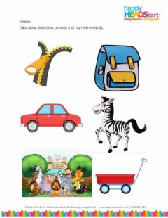 Interactive worksheet Letter Zz