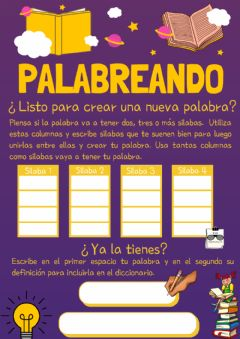 Interactive worksheet Palabreando