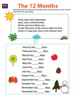 Interactive worksheet The 12 Months