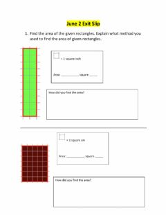 Interactive worksheet Area of rectangles and squares