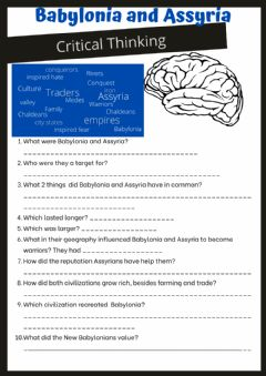 Interactive worksheet Babylonia and Assyria