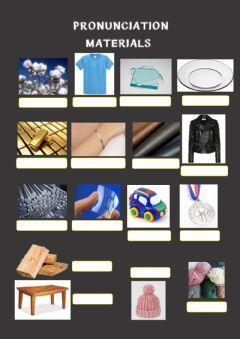Interactive worksheet Materials, pronunciation