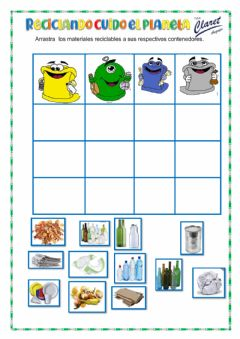 Interactive worksheet Reciclamos