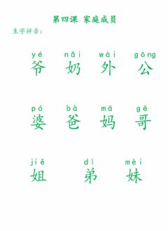 Interactive worksheet 我的家人