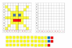 Interactive worksheet Pixel art del sole